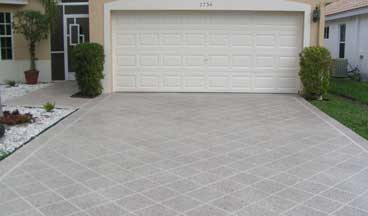 concrete driveway overlay Raleigh