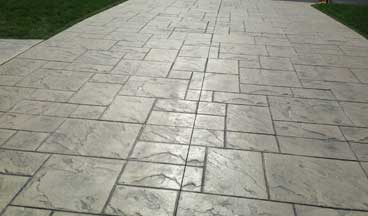 stamped concrete overlay Raleigh
