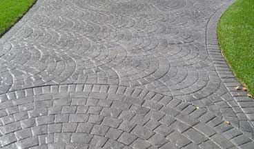 stamped concrete overlay driveway