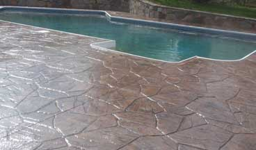 stamped concrete pool deck Raleigh
