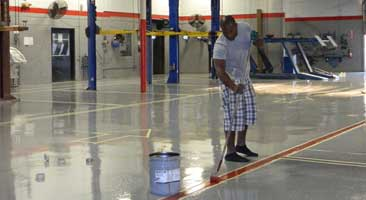 commercial epoxy flooring Raleigh