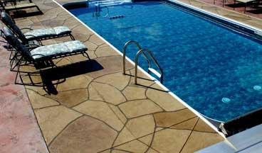 concrete overlay around pool